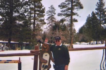 Mountain John with pet bear